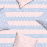 Quartz Rose and Serenity Blue Pillows
