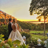 Wedding bliss during the golden hour.