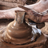 The potter's hand!