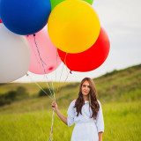 Baloons in a field