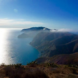 Hiking across Catalina island