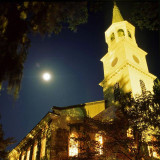 Painting-with-light photo of The Parish Church of St. Helena* under a full moon in Beaufort, South Carolina. *(formerly St. Helena's Episcopal)