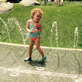 Summer time sprinkler fun