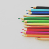 Coloured pencils.