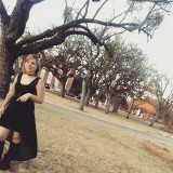 Katie Tatiana Dowell at Hardin Simmons University campus, Abilene Texas. photo by Emanuel Tejeiro