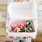 Holding cupcakes