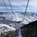 Sun Valley Idaho shot from the ski resort gondola.