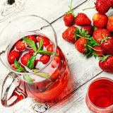compote with strawberry