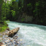 Blaeberry River in Donald, British Columbia, Canada