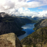 endpoint of the hike to Trolltunga,