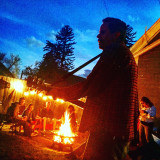 Live music at the fire pit...