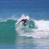 Babe surfing in Mexico.