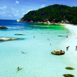 Swimming in the crystal waters of Thailand
