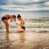 Making Summer Memories...My Girls Looking for Little Crabs The Simple Life in The Deep South.Taken 7/9/16 6:33pm at Langdon Beach, Fort Pickens, FL.