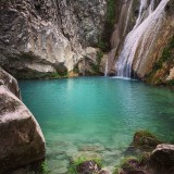 Polylimnio Waterfalls, South Peloponisos, Greece