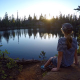 High lakes sunset after a long backpack into the Oregon backcountry.