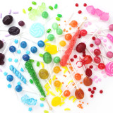 A colorful rainbow of candy