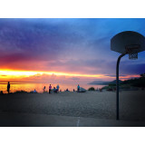 Lake Michigan sunset hoops🏀