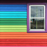 Colorful wall and window