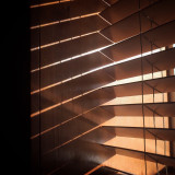 Light and shadows: wooden blinds