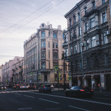 Street in the city.