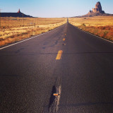 On the open road of USA monument valley Utah