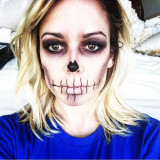 Halloween Skeleton Makeup Female Selfie