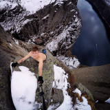 Extreme rock climbing at the 720 meters cliff drop in Norway!