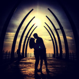 Couple in silhouette at sunrise 🌅