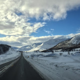Driving mountains snow norway