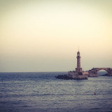 The lighthouse of the Montaza palace in Alexandria, Egypt . A beautiful place full of calmness and beauty.