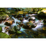 Light, flow, mountain stream of magic.Nasushiobara Valley. I am shooting in Japan.