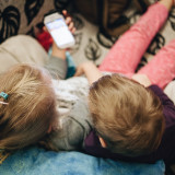 Kids using mobile device