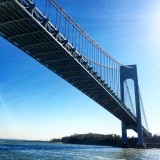 Bridge along the ferry route from New Jersey to lower Manhattan ...