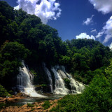 Beautiful waterfall located at Rock Island in Tennessee