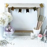 Pretty party frame