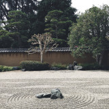 Magnetic Sand at Japanese Garden, Huntington Library, San Marino, United States of America