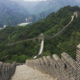 Hiking on the Great Wall of China.