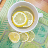 Hot lemon water for a healthy living