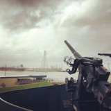 View from WWII era USS Texas in La Porte, Texas