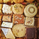 an assortment of indian mithai (sweets)