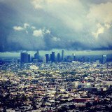 Downtown Los Angeles,standing tall between storms