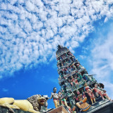Hindu Gods and Blue Sky