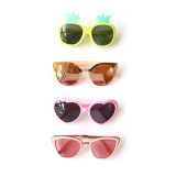 A collection of summer sunglasses... from cat eyes to pineapples to hearts.