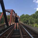 Hiking trails that lead to a railroad
