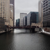 Chicago river at Washington Boulevard bridge.