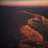 Rugged mountains of California at Golden Hour
