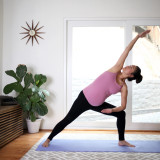 Prenatal yoga at home