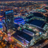 I'm a Lakers fan for life, so during the chopper ride, trying to get a shot of their home, the Staples Center, was a must. The ride was amazing, even if I didn't get this shot exactly as I'd hoped I would. Last night I went to watch the game here and my friend @ms_neri was nice enough to join me. She doesn't believe that I had more fun at the game (even though it was a Clippers game) than I did in the helicopter...it's mostly cuz we were sitting a few seats down from Juan Pablo, of The Bachelor, but she d