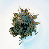 It's a smal world after all! I took this picture of the Small World ride at Disneyland CA and transformed into an actual small world using the Tiny Planet editing app.